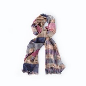 NWT! • Purple, Blue and Chestnut Scarf, ON SALE!